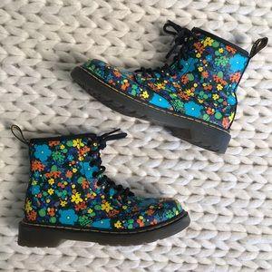 Dr Martens Floral Combat Boots